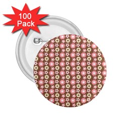 Cute Floral Pattern 2 25  Button (100 Pack) by creativemom