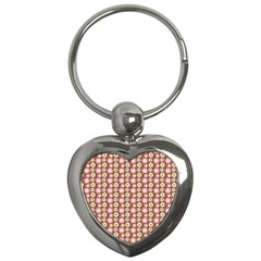 Cute Floral Pattern Key Chain (heart) by creativemom