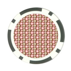 Cute Floral Pattern Poker Chip (10 Pack) by creativemom