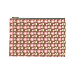Cute Floral Pattern Cosmetic Bag (large) by creativemom