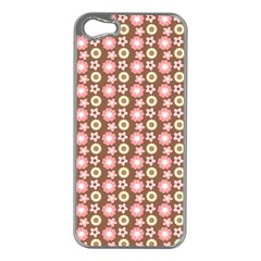 Cute Floral Pattern Apple Iphone 5 Case (silver) by creativemom