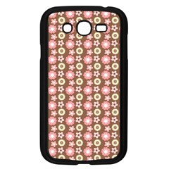 Cute Floral Pattern Samsung Galaxy Grand DUOS I9082 Case (Black) by creativemom