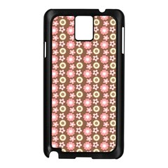 Cute Floral Pattern Samsung Galaxy Note 3 N9005 Case (black) by creativemom