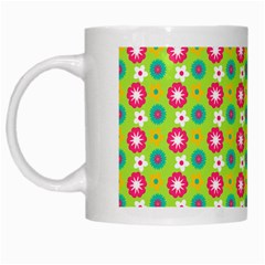 Cute Floral Pattern White Coffee Mug by creativemom