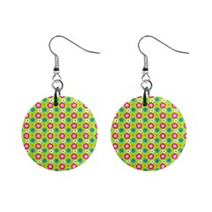 Cute Floral Pattern Mini Button Earrings by creativemom