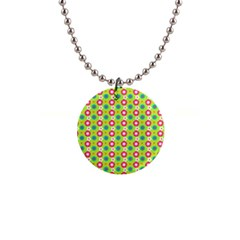 Cute Floral Pattern Button Necklace