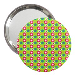 Cute Floral Pattern 3  Handbag Mirror by creativemom