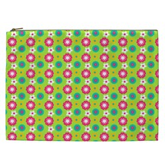 Cute Floral Pattern Cosmetic Bag (xxl) by creativemom