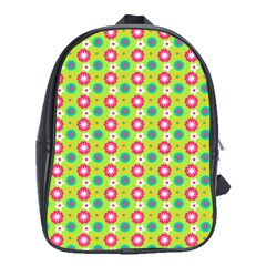 Cute Floral Pattern School Bag (xl) by creativemom
