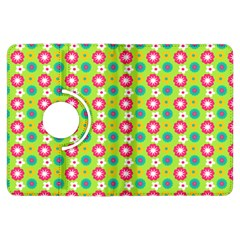 Cute Floral Pattern Kindle Fire Hdx Flip 360 Case by creativemom