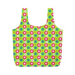 Cute Floral Pattern Reusable Bag (m) by creativemom