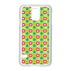 Cute Floral Pattern Samsung Galaxy S5 Case (white) by creativemom