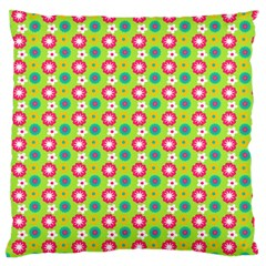 Cute Floral Pattern Large Flano Cushion Case (two Sides) by creativemom