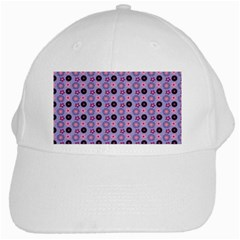 Cute Floral Pattern White Baseball Cap by creativemom
