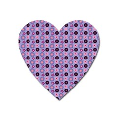 Cute Floral Pattern Magnet (heart) by creativemom