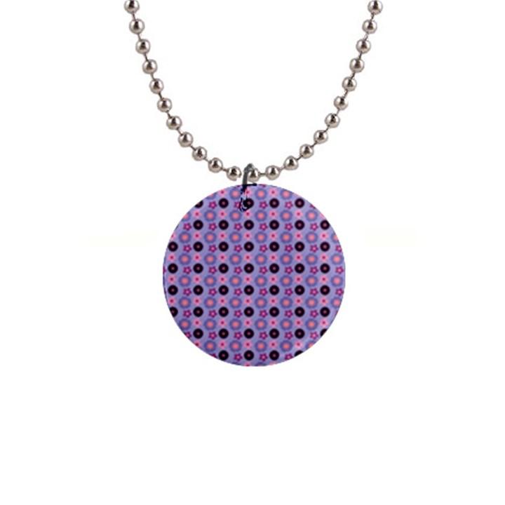 Cute Floral Pattern Button Necklace