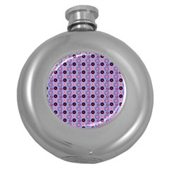 Cute Floral Pattern Hip Flask (round) by creativemom
