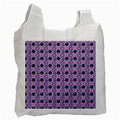 Cute Floral Pattern White Reusable Bag (one Side) by creativemom