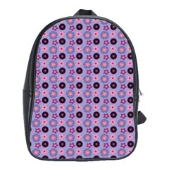 Cute Floral Pattern School Bag (large) by creativemom