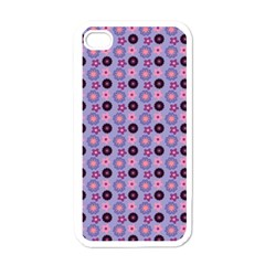 Cute Floral Pattern Apple Iphone 4 Case (white) by creativemom