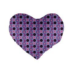 Cute Floral Pattern 16  Premium Heart Shape Cushion  by creativemom