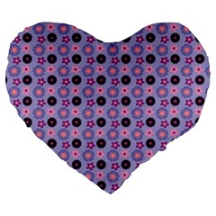 Cute Floral Pattern 19  Premium Heart Shape Cushion by creativemom