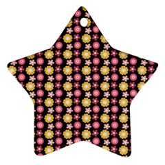 Cute Floral Pattern Star Ornament by creativemom