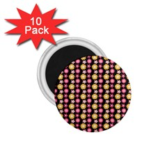 Cute Floral Pattern 1 75  Button Magnet (10 Pack) by creativemom
