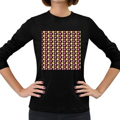 Cute Floral Pattern Women s Long Sleeve T Shirt (dark Colored) by creativemom