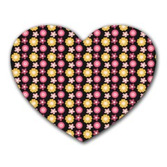 Cute Floral Pattern Mouse Pad (heart) by creativemom