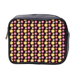 Cute Floral Pattern Mini Travel Toiletry Bag (two Sides) by creativemom