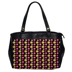 Cute Floral Pattern Oversize Office Handbag (one Side) by creativemom