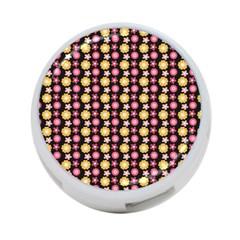 Cute Floral Pattern 4-Port USB Hub (One Side) by creativemom