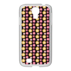 Cute Floral Pattern Samsung Galaxy S4 I9500/ I9505 Case (white) by creativemom