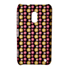Cute Floral Pattern Nokia Lumia 620 Hardshell Case by creativemom