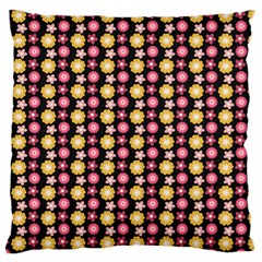 Cute Floral Pattern Large Flano Cushion Case (two Sides)