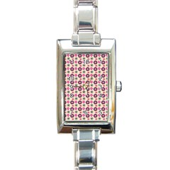 Cute Floral Pattern Rectangular Italian Charm Watch by creativemom