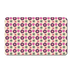 Cute Floral Pattern Magnet (rectangular) by creativemom
