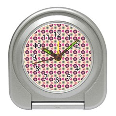 Cute Floral Pattern Desk Alarm Clock by creativemom