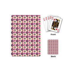 Cute Floral Pattern Playing Cards (mini) by creativemom