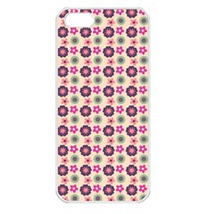 Cute Floral Pattern Apple Iphone 5 Seamless Case (white) by creativemom