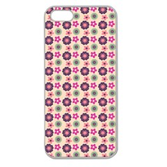 Cute Floral Pattern Apple Seamless Iphone 5 Case (clear) by creativemom