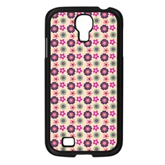 Cute Floral Pattern Samsung Galaxy S4 I9500/ I9505 Case (black) by creativemom