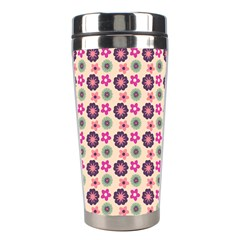 Cute Floral Pattern Stainless Steel Travel Tumbler by creativemom