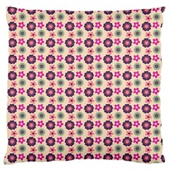 Cute Floral Pattern Large Flano Cushion Case (one Side) by creativemom