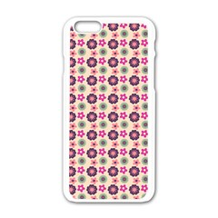 Cute Floral Pattern Apple Iphone 6 White Enamel Case by creativemom