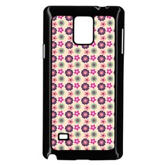 Cute Floral Pattern Samsung Galaxy Note 4 Case (black) by creativemom