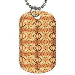Faux Animal Print Pattern Dog Tag (one Sided) by creativemom