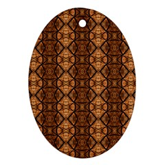 Faux Animal Print Pattern Oval Ornament by creativemom
