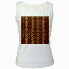 Faux Animal Print Pattern Women s Tank Top (white) by creativemom